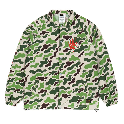 DUST OVERSIZED COACH JACKET CAMOUFLAGE