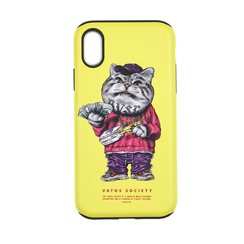 PHONE CASE CATSGANG YELLOW iPHONE 8 / 8+ / X