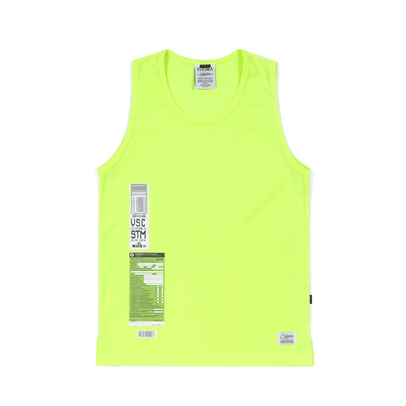 IMMIGRATION COOLON SLEEVELESS NEON GREEN