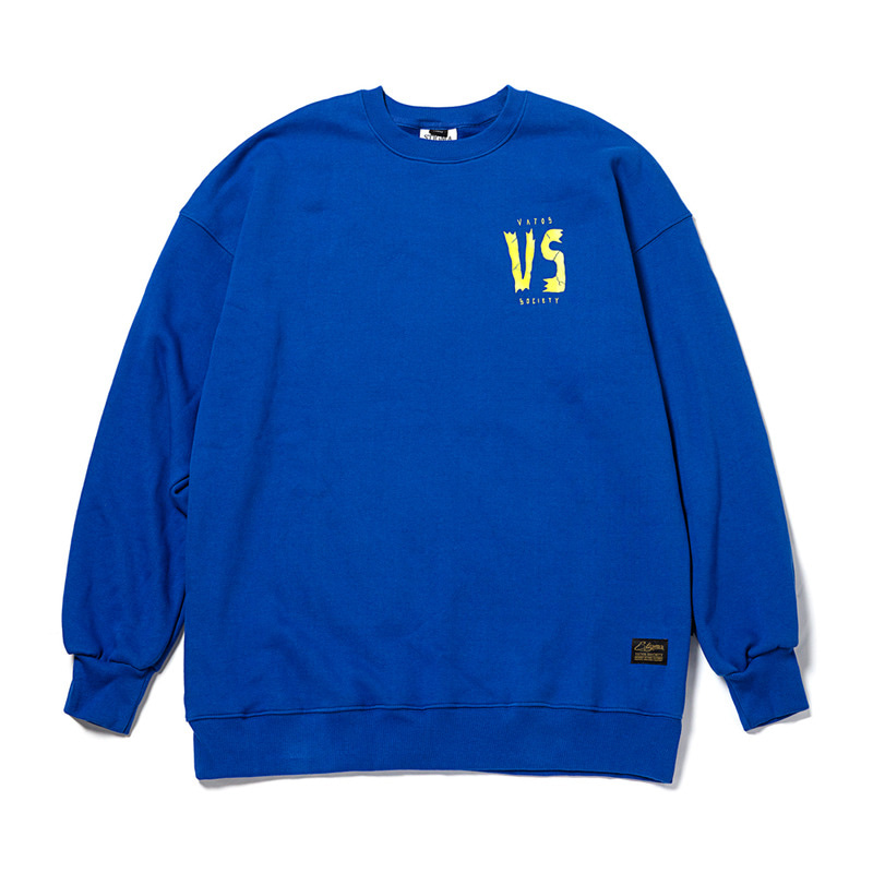 GOD OVERSIZED HEAVY SWEAT CREWNECK BLUE