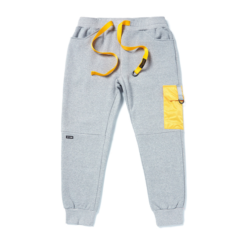 STGM POCKET HEAVY SWEAT JOGGER PANTS GREY