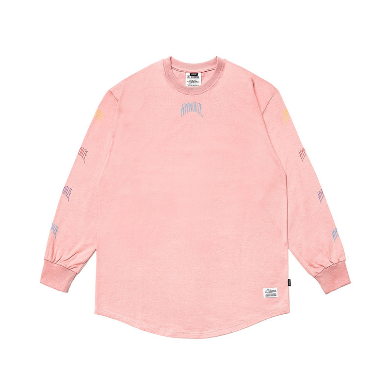 HYPNOTIZE LAYERED LONG SLEEVES T-SHIRTS PINK