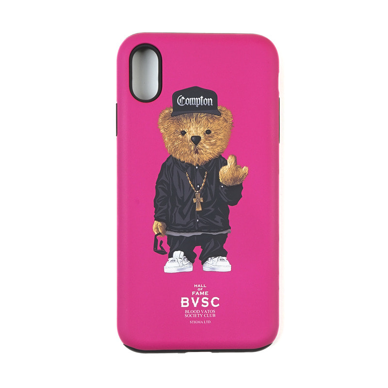 PHONE CASE COMPTON BEAR PINK iPHONE Xs / Xs MAX / Xr