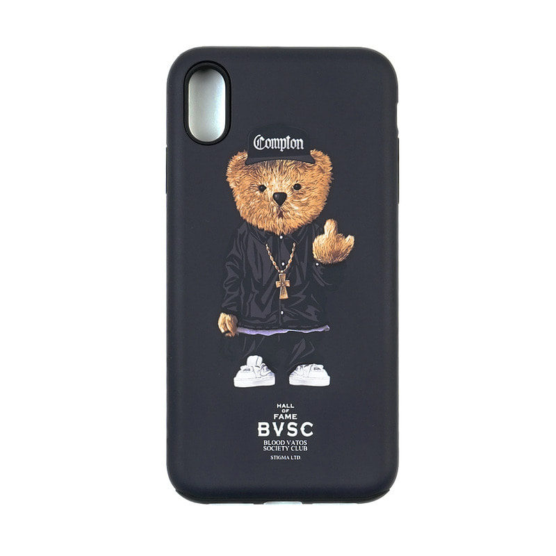 PHONE CASE COMPTON BEAR BLACK iPHONE Xs / Xs MAX / Xr