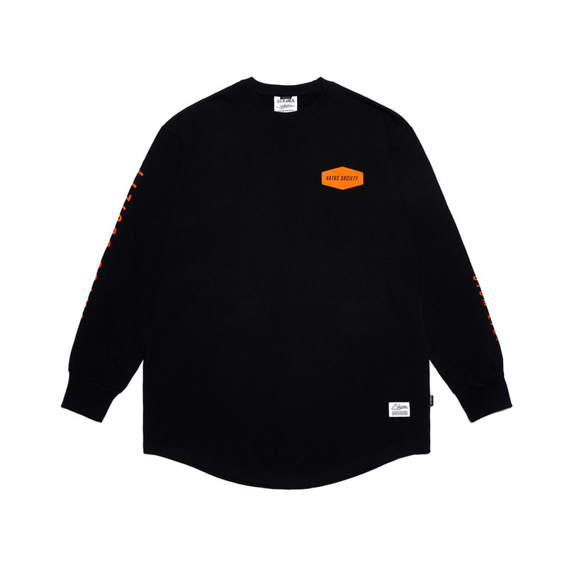 EMBLEM LAYERED LONG SLEEVES T-SHIRTS BLACKSOLD OUT