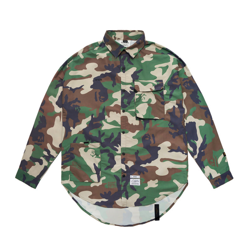 STGM TECH OVERSIZED SHIRTS CAMOUFLAGESOLD OUT