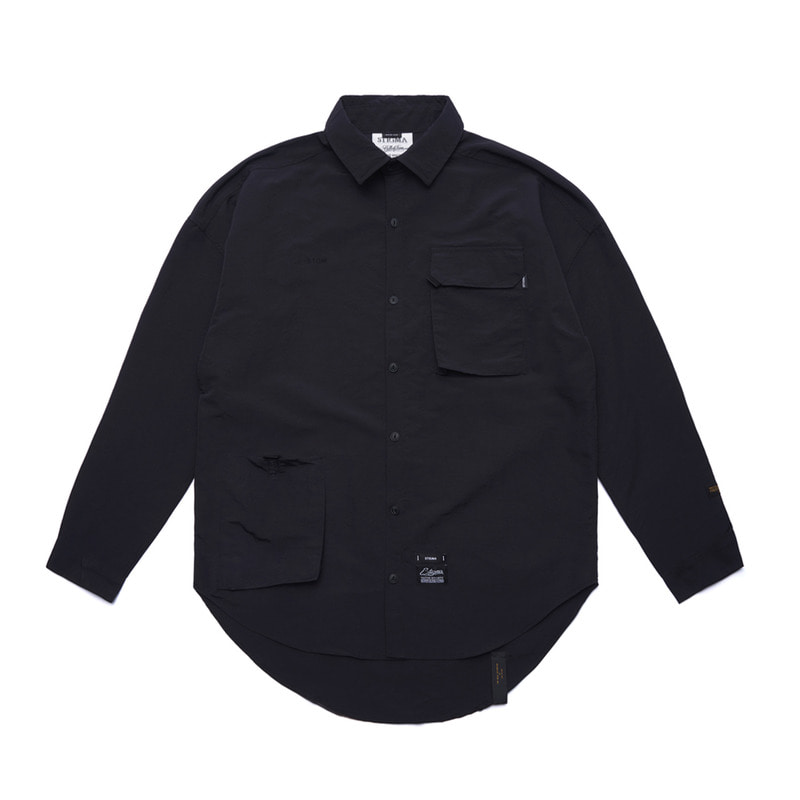 STGM TECH OVERSIZED SHIRTS BLACK