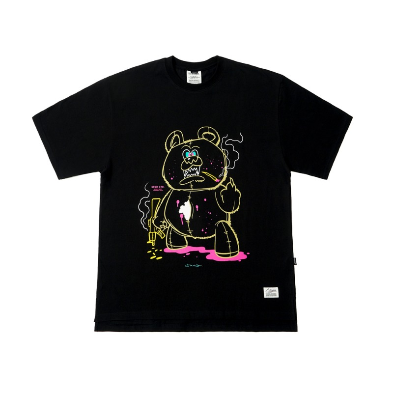BEAR GANG OVERSIZED T-SHIRTS BLACK