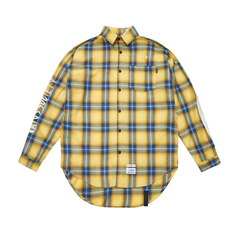 HALLUCINATION OVERSIZED CHECK SHIRTS YELLOWSOLD OUT