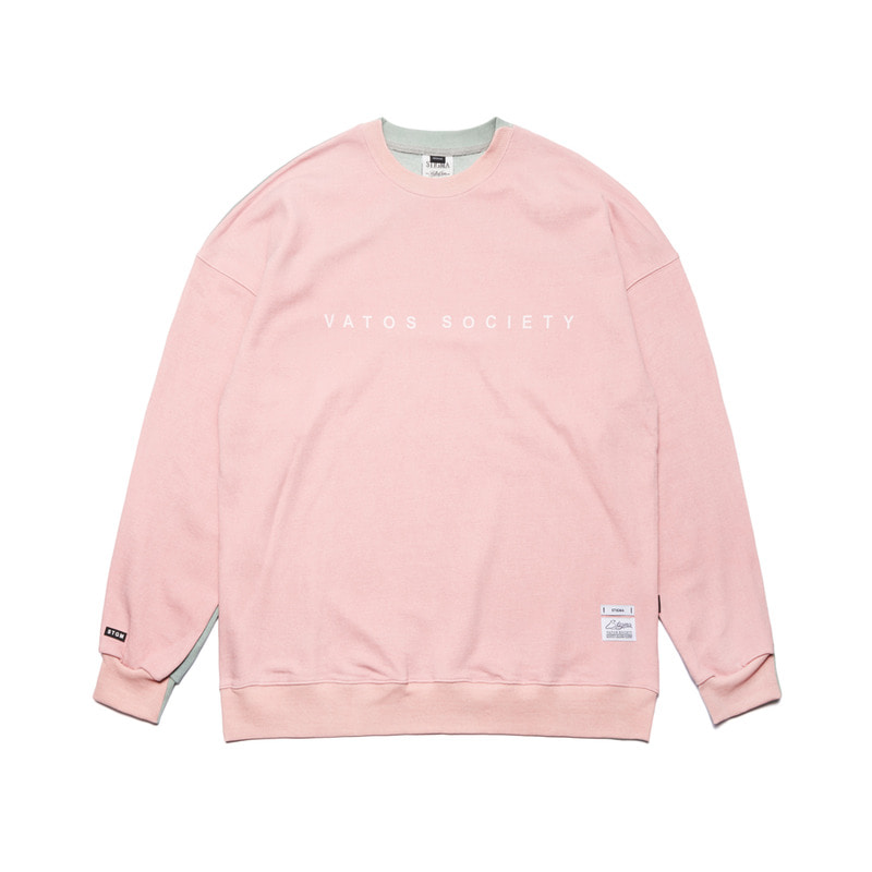 SIDE HALF OVERSIZED MEDIUM SWEAT CREWNECK PINKSOLD OUT