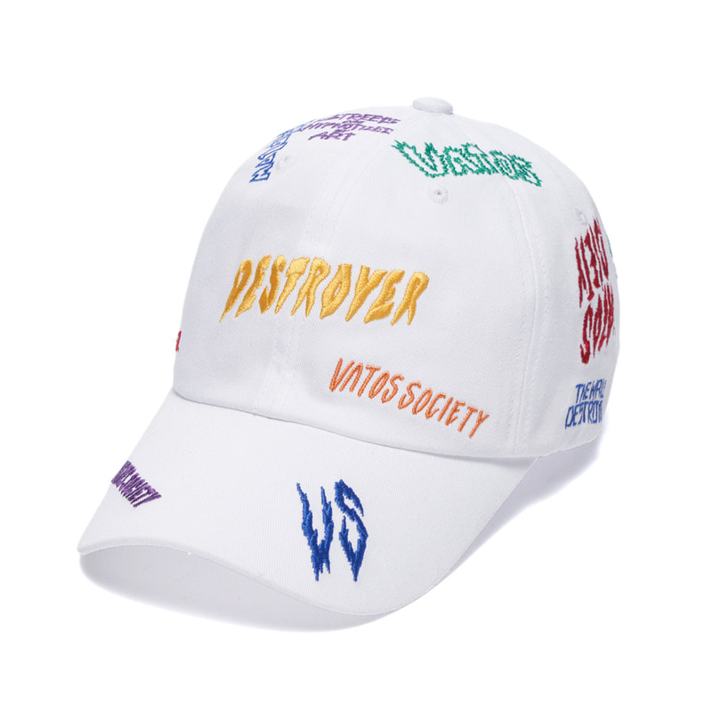 DESTROYER BASEBALL CAP WHITE