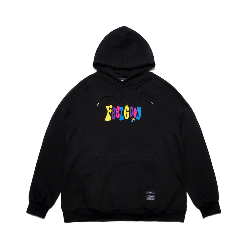 MULTIPLE COLOR OVERSIZED HEAVY SWEAT HOODIE BLACK