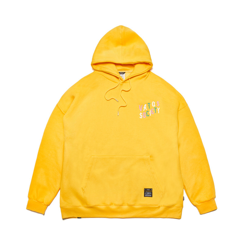 WAVE OVERSIZED HEAVY SWEAT HOODIE YELLOW