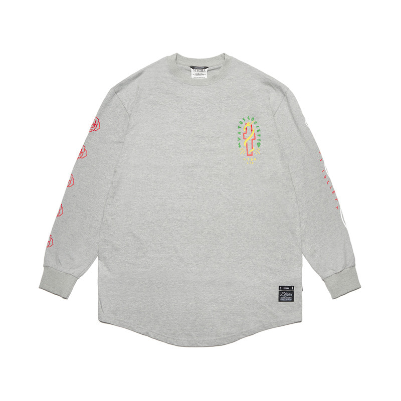 CLASSIC LAYERED LONG SLEEVES T-SHIRTS GREY