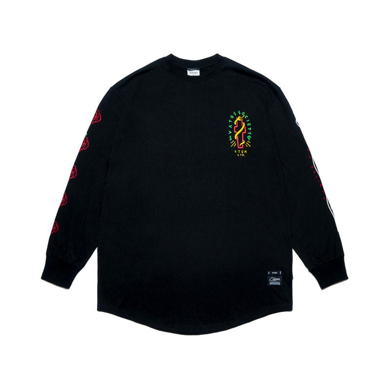 CLASSIC LAYERED LONG SLEEVES T-SHIRTS BLACK