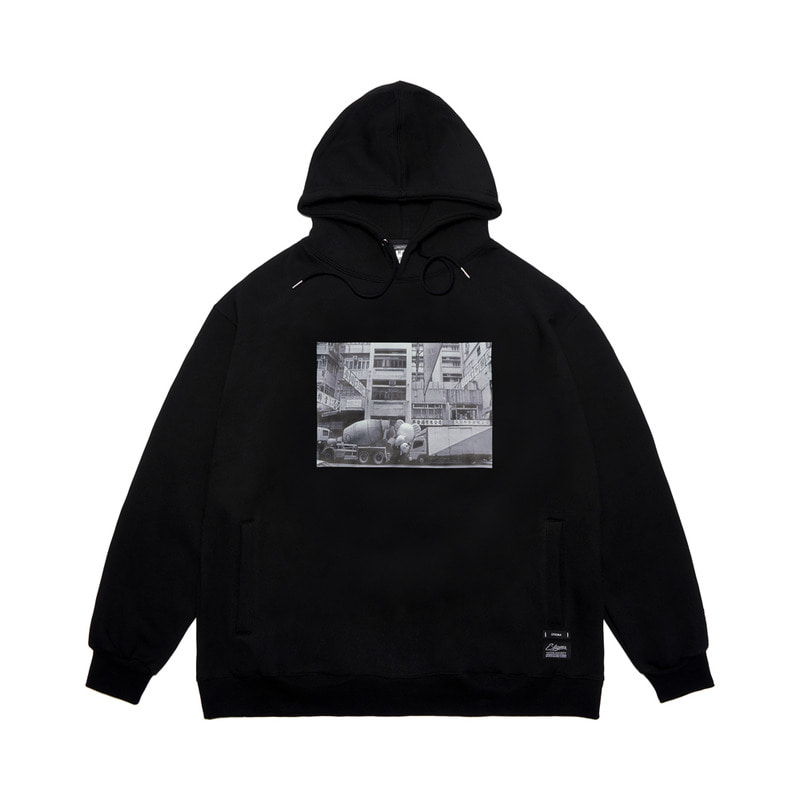 STIGMA X IM JI-BIN OVERSIZED HEAVY SWEAT HOODIE BLACK