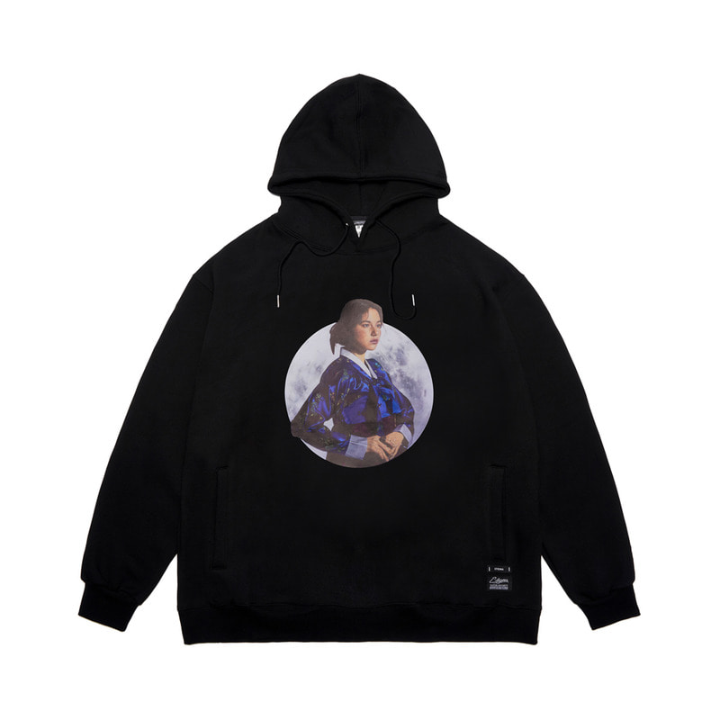 STIGMA X ROYYALDOG OVERSIZED HEAVY SWEAT HOODIE BLACK