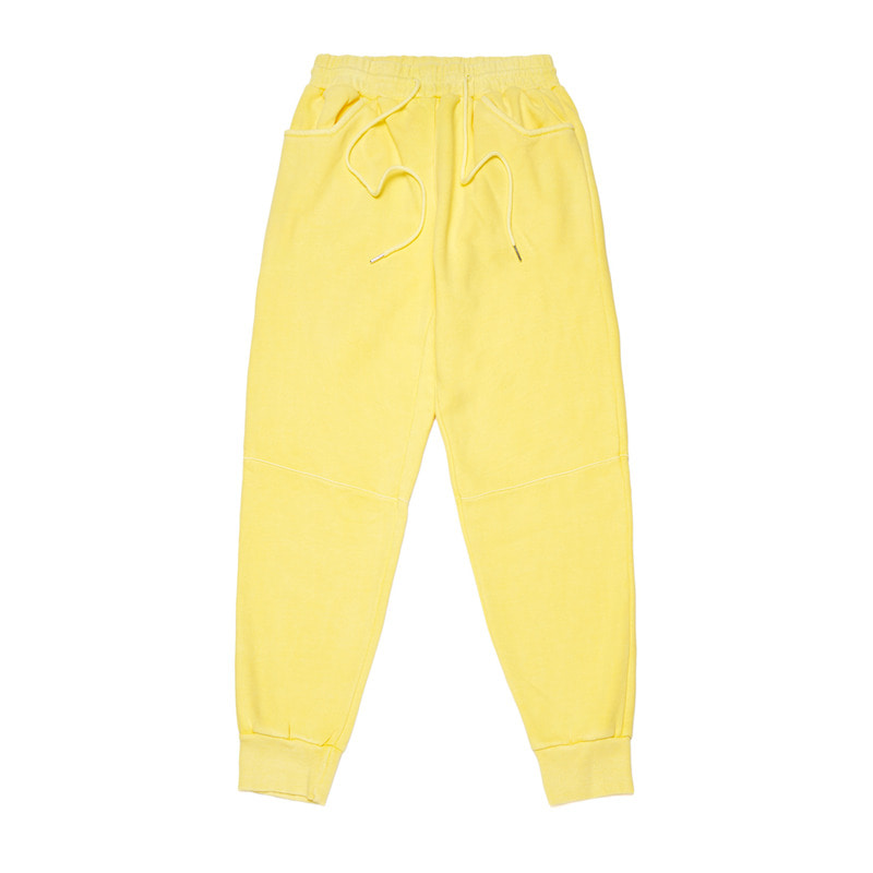 SCRAPE PIGMENT HEAVY SWEAT JOGGER PANTS YELLOW