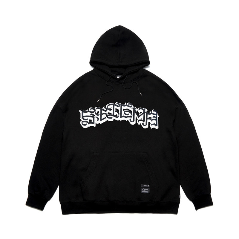 STIGMA X CASPER OVERSIZED HEAVY SWEAT HOODIE BLACK