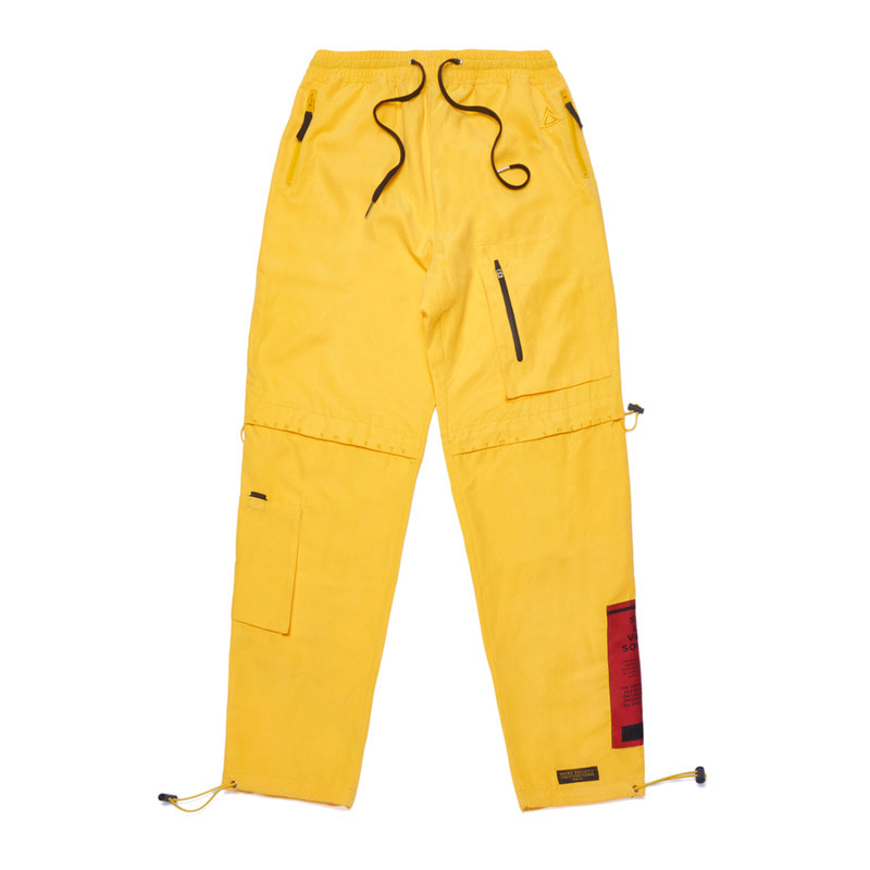 WASHED TECH JOGGER PANTS YELLOW