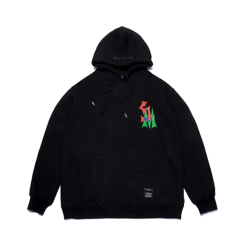 STACK OVERSIZED HEAVY SWEAT HOODIE BLACK
