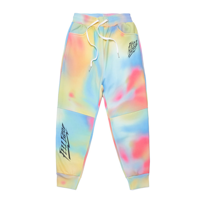 DOT TIE DYE HEAVY SWEAT JOGGER PANTS MULTI