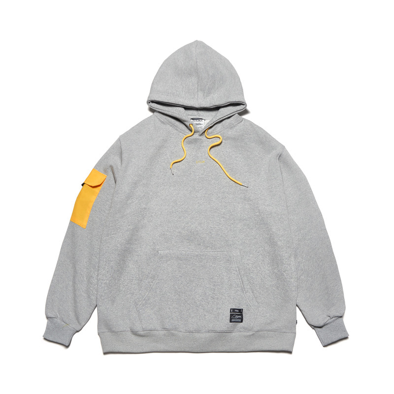 FEEL GOOD OVERSIZED HEAVY SWEAT HOODIE GREY