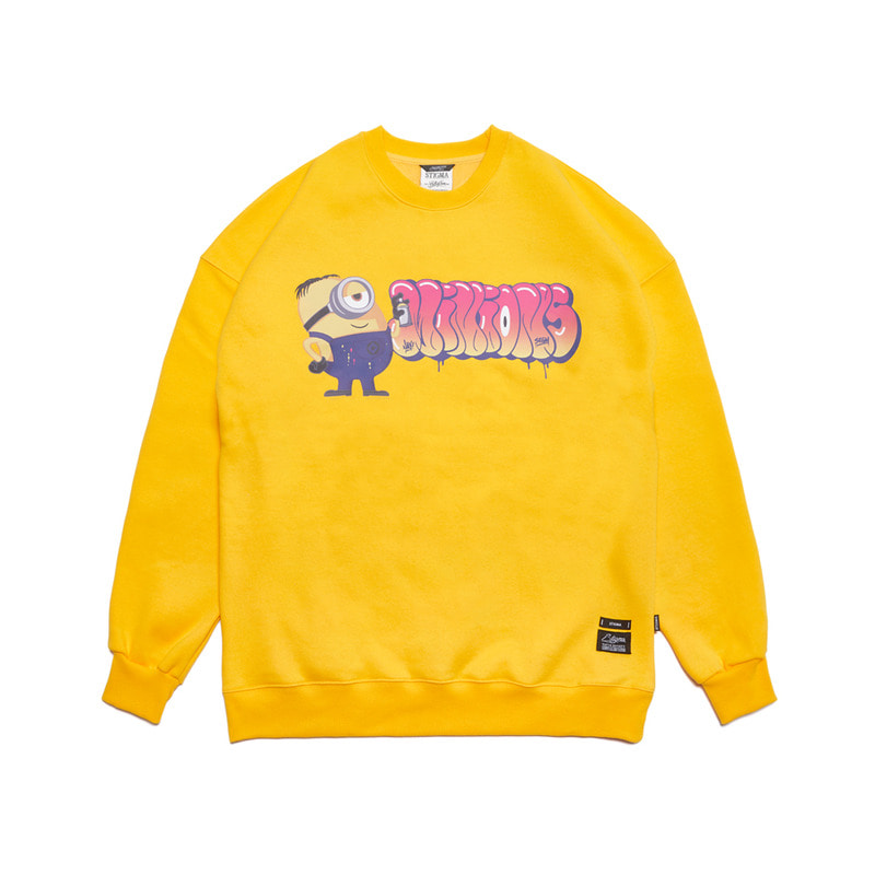 STIGMA X MINIONS OVERSIZED HEAVY SWEAT CREWNECK YELLOW