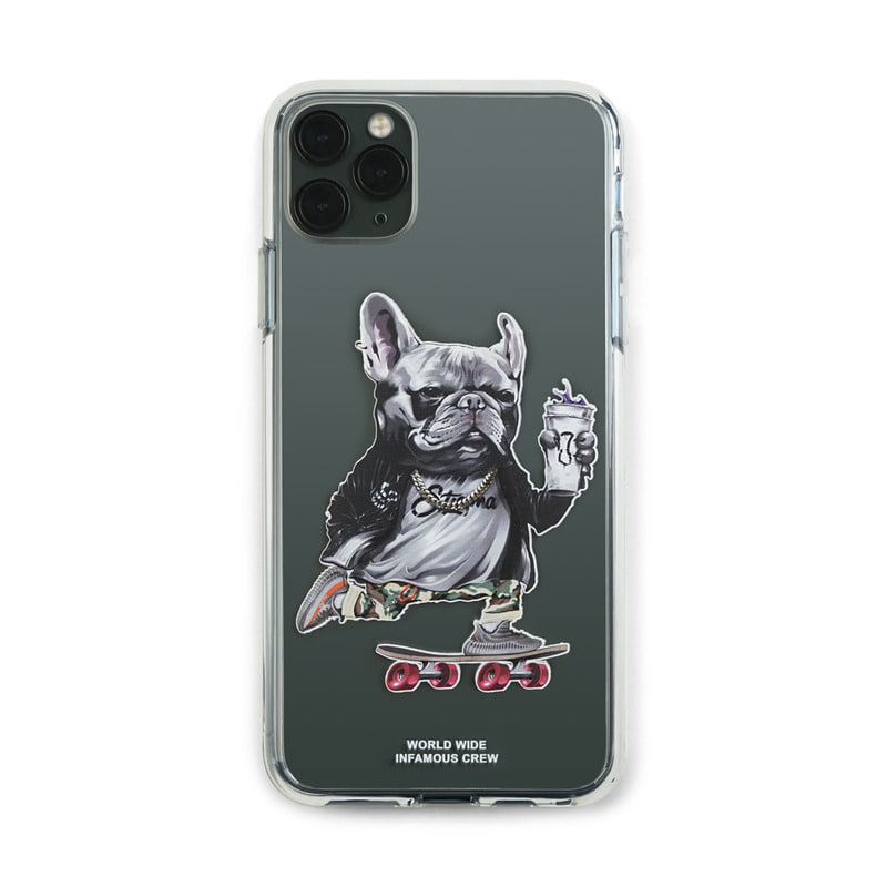 PHONE CASE BULL DOG CLEAR iPHONE 11 / 11 Pro / 11 Pro Max