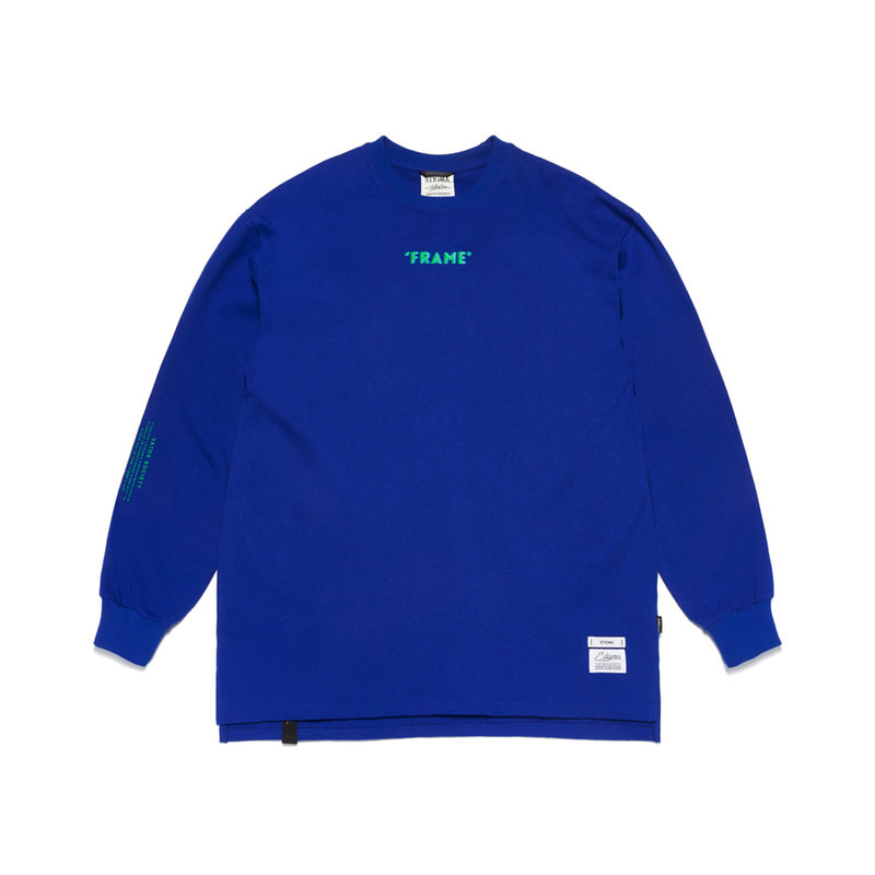FRAME OVERSIZED LONG SLEEVES T-SHIRTS BLUE