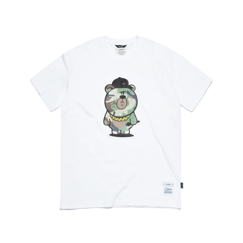 CAMOUFLAGE BEAR T-SHIRTS WHITE