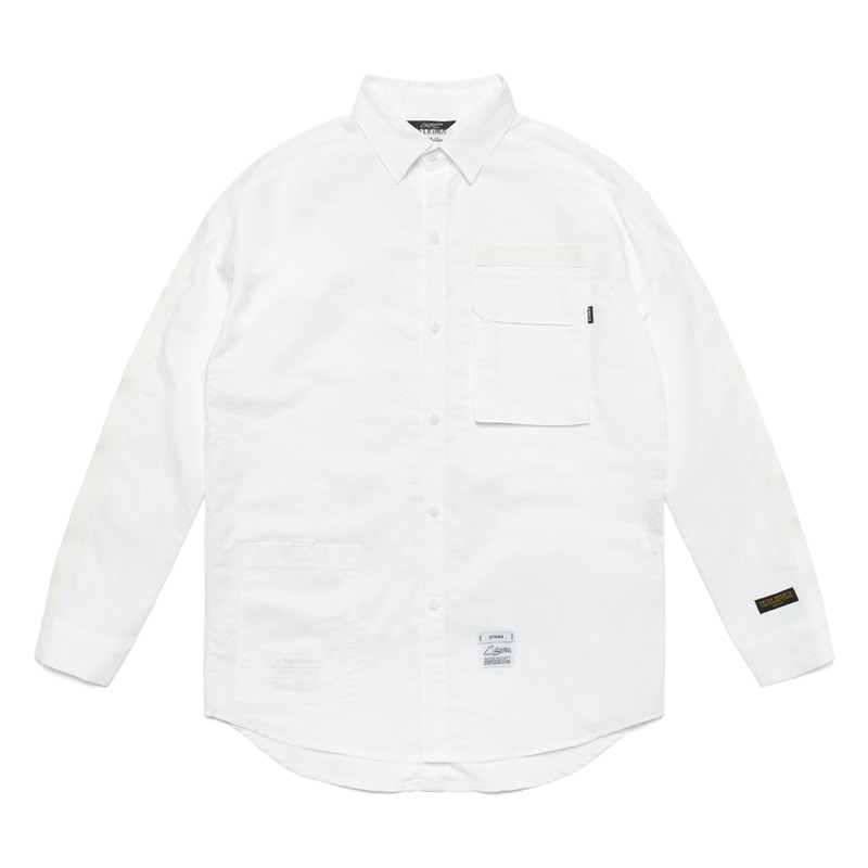 S TECH OVERSIZED SHIRTS WHITE