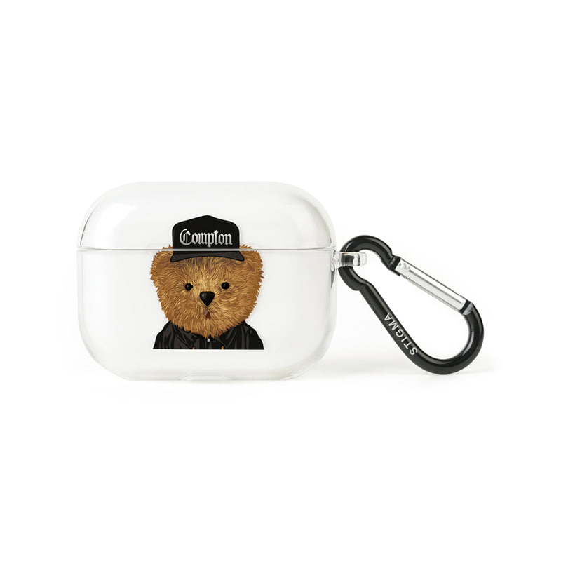 AirPods Pro CASE COMPTON BEAR CLEAR